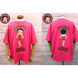 BETTY BOOP/90's復刻版BIG-Tシャツ ネオンピンクXL新品タグ付