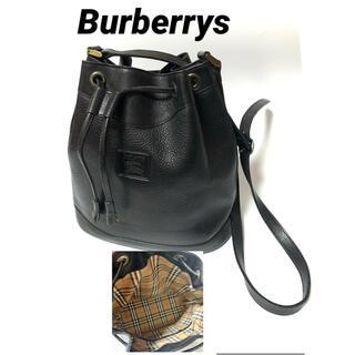 バーバリー(BURBERRY)のBurberrys バーバリー レザーショルダーバッグ 巾着(ショルダーバッグ)
