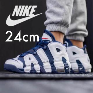 NIKE - 美品 NIKE AIR MORE UPTEMPO GS オリンピック 24cm