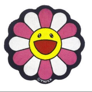 Flower Floor Mat Pink × White Zingaro