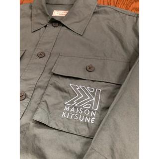 MAISON KITSUNE' - Mサイズ MAISON KITSUNE キツネ  カーキシャツ 20ss