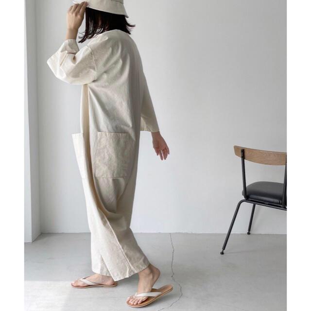 TODAYFUL(トゥデイフル)のvia j(ヴィアジェイ) クロップ袖ジャンプスーツ canaljean レディースのパンツ(オールインワン)の商品写真