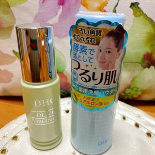 ディーエイチシー(DHC)のDHCオリーブバージンオイル&薬用洗顔パウダー(フェイスオイル/バーム)