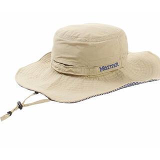 MARMOT - 新品 Lサイズ つば広ハット 帽子 マーモット ベージュ