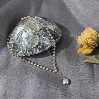 『土・日特別価格』2連 華やか パール ネックレス 可愛い キレイ(ネックレス)