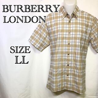 超美品 BURBERRY LONDON 半袖シャツ タータンチェック LLサイズ