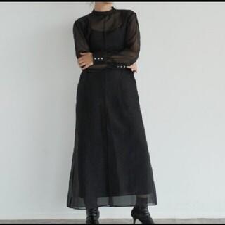 トゥデイフル(TODAYFUL)のTODAYFUL ドレス ワンピース ブラック 36(ロングワンピース/マキシワンピース)