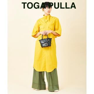 トーガ(TOGA)の【TOGA PULLAトーガプルラ】Broad dress/マスタードイエロー(ひざ丈ワンピース)
