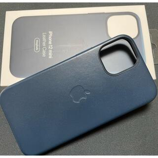 Apple - Apple純正 iPhone 12 mini用レザーケース バルティックブルー