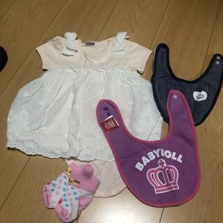 プティマイン(petit main)の# 子供服 スタイ 靴下 4点セット(ロンパース)