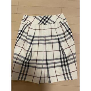 バーバリーブルーレーベル(BURBERRY BLUE LABEL)のバーバリー チェック スカート 未使用 新品(ひざ丈スカート)