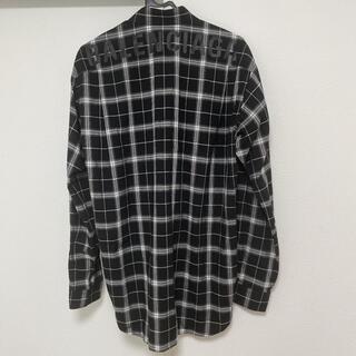 Balenciaga - バレンシアガ バックロゴ チェックシャツ 正規品