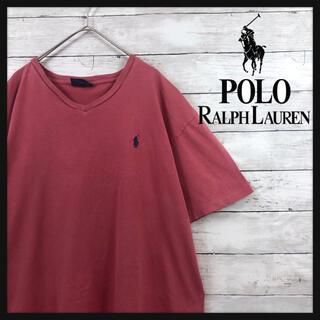 POLO RALPH LAUREN - 【90.s ラルフローレン】パステルボルドー ワンポイントミニポニー刺繍