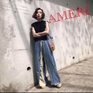 アメリヴィンテージ(Ameri VINTAGE)のAmeri VINTAGE アメリ MIX MATERIAL PANTS デニム(デニム/ジーンズ)