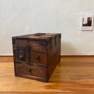 古道具 木箱 小物入れ
