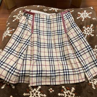 バーバリーブルーレーベル(BURBERRY BLUE LABEL)の売り切り 美品バーバリーチェックスカート(ひざ丈スカート)