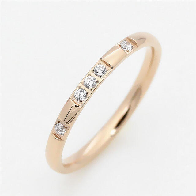 5D ステンレスリング  ステンレス指輪 ピンキーリング ピンクゴールド レディースのアクセサリー(リング(指輪))の商品写真