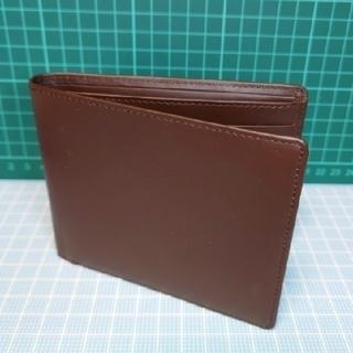 ムジルシリョウヒン(MUJI (無印良品))の【新品】牛革・二つ折り財布(ブラウン)(折り財布)