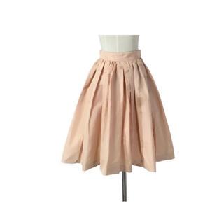 miumiu - miumiu イタリア製 シグネチャーピンクのふんわり綺麗なフレアスカート