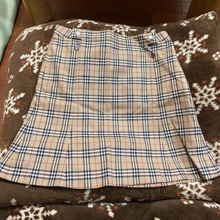 バーバリーブルーレーベル(BURBERRY BLUE LABEL)の売り切り バーバリーチェックスカート(ひざ丈スカート)