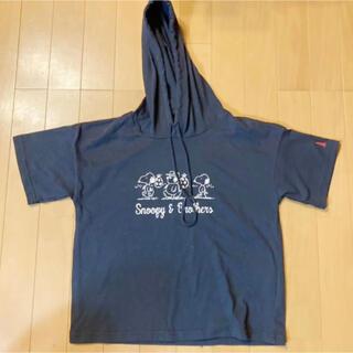 イーストボーイ(EASTBOY)のEAST BOY  PEANUTS スヌーピー パーカー 半袖(Tシャツ(半袖/袖なし))