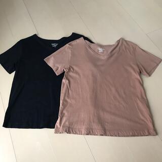 GU - GU VネックTシャツ2枚セット