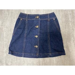バーバリーブルーレーベル(BURBERRY BLUE LABEL)の美品★ブルーレーベルクレストブリッジ デニムスカート 台形スカート 38サイズ(ミニスカート)