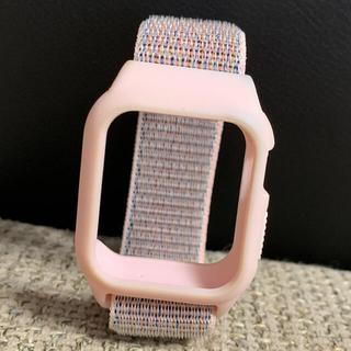 Apple Watch - Apple Watch ループバンド ケース一体型 38/40mm ピンクサンド