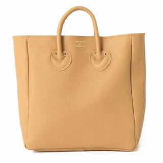 IENA - YOUNG&OLSEN EMBOSSED LEATHER TOTE M キャメル