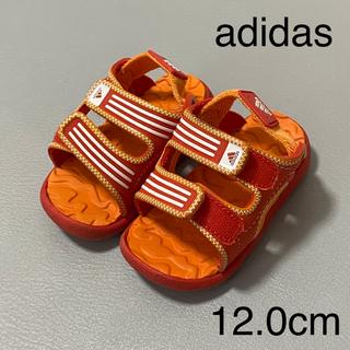 adidas - adidas アディダス サンダル オレンジ 12cm