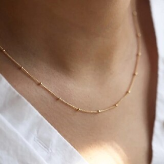 Plage - 【再入荷】dot chain necklace * gold
