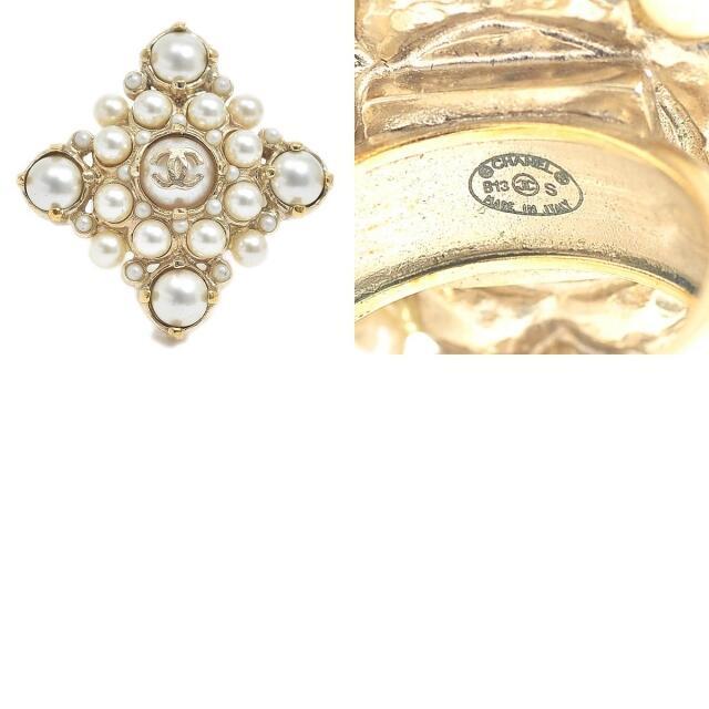 CHANEL(シャネル)のシャネル ココマーク パール リング ゴールド B13S 約11.5号 レディースのアクセサリー(リング(指輪))の商品写真