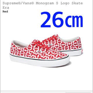 Supreme - Supreme Vans Monogram S Logo Skate Era 赤