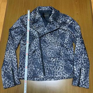 ドレスキャンプ(DRESSCAMP)のドレスキャンプ レオパード柄ライダースジャケット サイズ44 美品(ライダースジャケット)