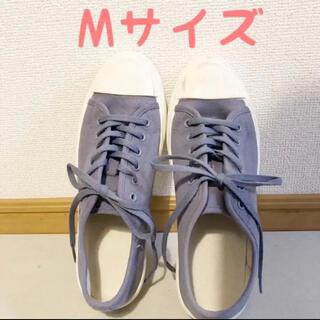 ジーユー(GU)のクリーンキャンバススニーカー パープル Mサイズ(スニーカー)