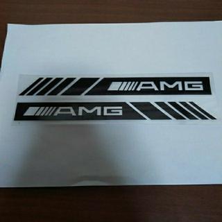 6AN94 メルセデス・ベンツ AMG ステッカー 2枚セット ブラック