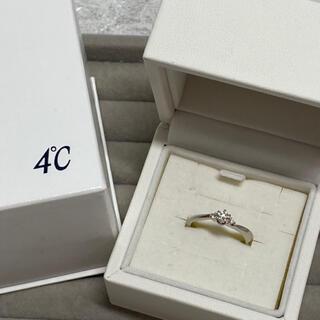 4℃ - ☆美品 4℃ ヨンドシー       プラチナ ダイヤモンドリング 豪華