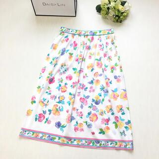 LEONARD - 美品 レオナール  LEONARD 美しい花柄 ロング スカート