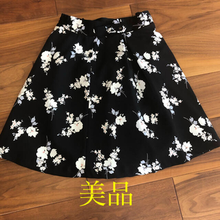 MISCH MASCH - 美品 MISCH MASCH 花柄スカート 黒 膝丈 ミッシュマッシュ