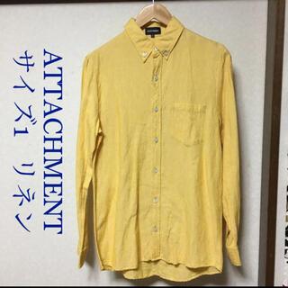 アタッチメント(ATTACHIMENT)のアタッチメント リネンブランド 長袖ボタンダウンシャツ 1 イエロー メンズ(シャツ)