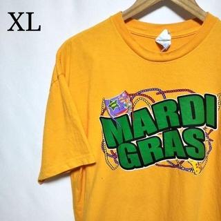 デルタ(DELTA)のアメリカ古着 MARDI GRAS イベント オーバーサイズ プリント Tシャツ(Tシャツ/カットソー(半袖/袖なし))