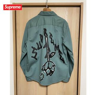 Supreme - 【S】Supreme Rose L/S Work Shirt Green