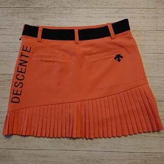 DESCENTE - DESCENTE ゴルフ スカートMサイズ オレンジ