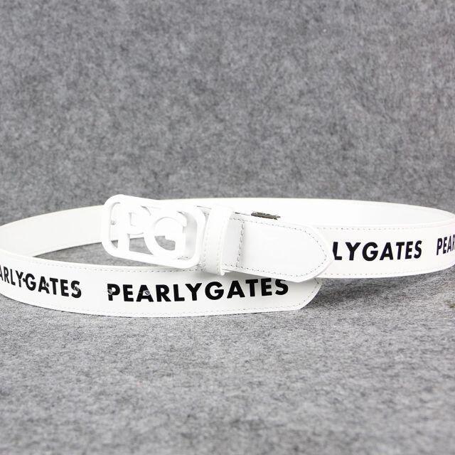 PEARLY GATES(パーリーゲイツ)のパーリーゲイツ ゴルフレザー ベルト スポーツ/アウトドアのゴルフ(ウエア)の商品写真