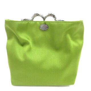 デイジーリンフォクシー パーティ バッグ ストーン装飾 グリーン 鞄(クラッチバッグ)