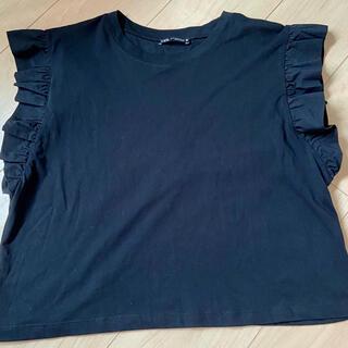 ZARA - 新品 ザラ コットンフリルtシャツ