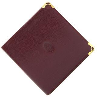 カルティエ(Cartier)の カルティエ 二つ折り財布 マスト ボルドー レザー 中古(財布)