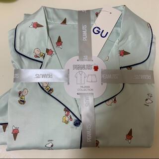 GU - GU スヌーピー PEANUTS サテンパジャマ半袖