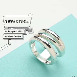 Tiffany & Co. - 新品仕上げ ティファニー 希少 ヴィンテージ ダイアゴナル リング 9号