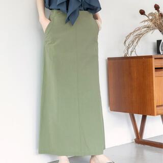 IENA - 最新♪イエナ♪コットンナイロントラペーズスカート♪カーキ♪36